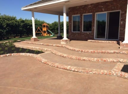 Concrete Patio Install Stockton