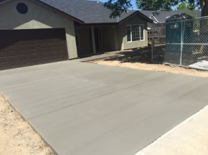 ready mix etched concrete driveway tracy