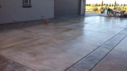 stamping concrete stains tracy ca