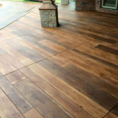 Wood Concrete Patio Cost Stain
