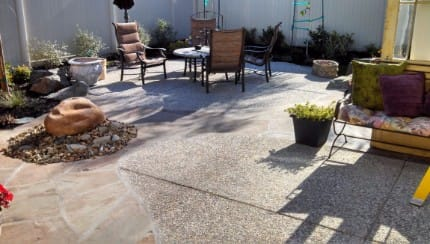 aggregate rock patio lathrop ca