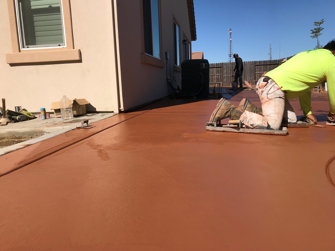 stamped concrete stain contractors stockton ca
