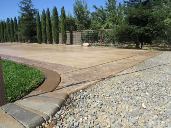 this is an image of a stamped concrete driveway